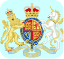 Government crest with lion and unicorn